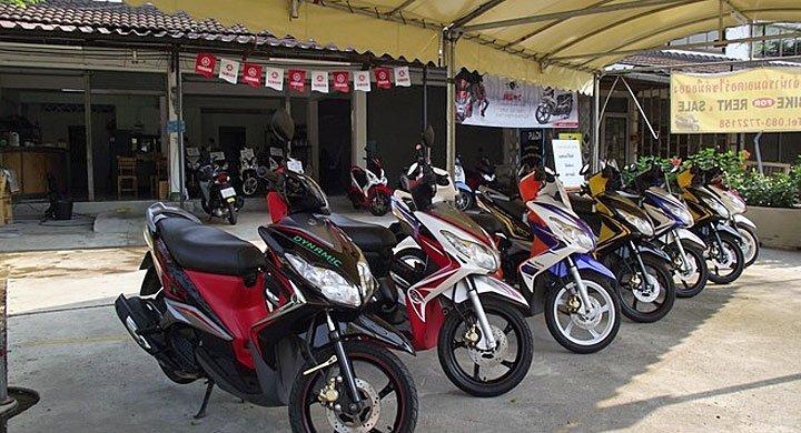 Motorbikes in Thailand