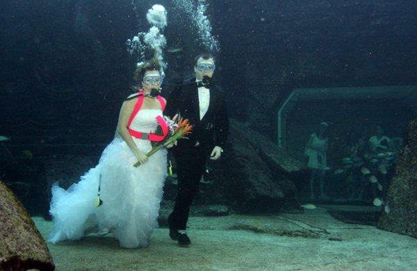 Unterwasser Hochzeit in Trang