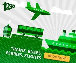 Transfer per Bus Fähre Zug Flugzeug