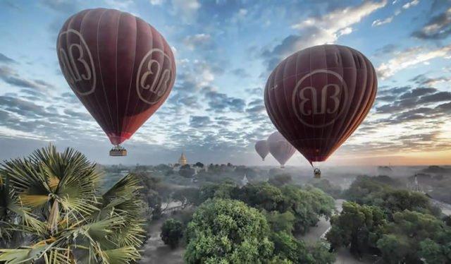 Blick auf Bagan