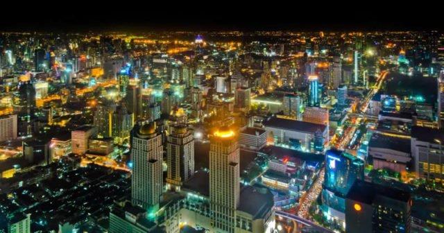 Blick auf Bangkok Thailand
